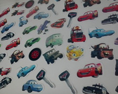 Kit 100 Aplique turma Carros Disney