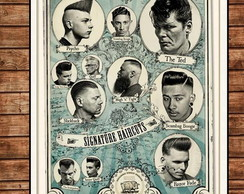 Placa Retro Barber Shop