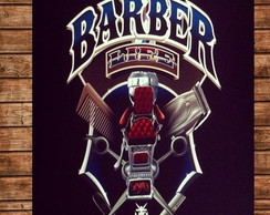 Placa Retro Barber Shop 2