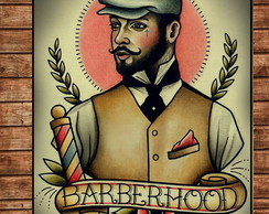 Placa Retro Barber Shop 3
