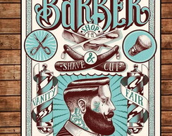 Placa Retro Barber Shop 4