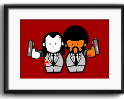 Quadro Pulp Fiction Minimalista Paspatur