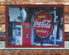 Placa Retro Coca Cola