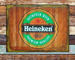 Placa Retro Heineken
