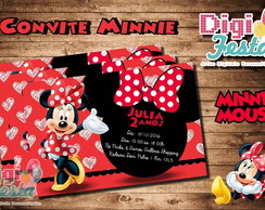 Convite Minnie (arte digital)