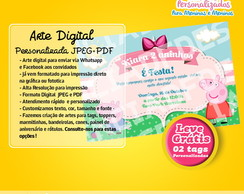 Convite Peppa Pig Digital JPEG/PDF