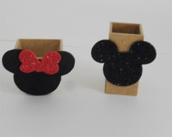 Mini Cachepô - Mickey & Minnie