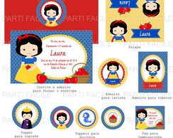 Kit Digital festa Branca de Neve 2