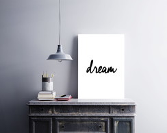 "Placa decorativa ""Dream"""