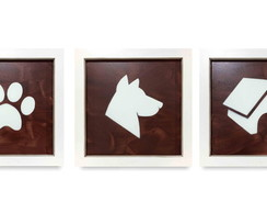 Quadros para Pet Shop Pintura Trio