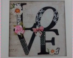 Quadrinho Decorativo - Love Black
