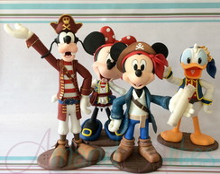 Enfeite de Mesa Turma do Mickey Pirata