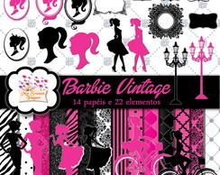 KIT DIGITAL Barbie Vintage