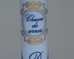 Tubete chuva de arroz azul royal