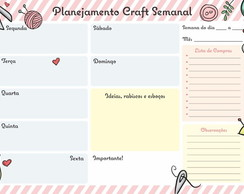 Bloco Craft Planner Semanal