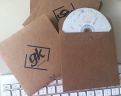Case para CD papel craft personalizado