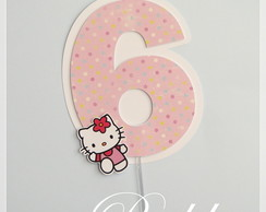 Topper para bolo - Hello Kitty