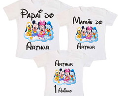 Kit 3 Camiseta Turma do Mickey Disney