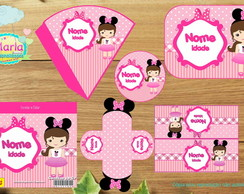 Kit festa Bonequinha Minnie Rosa