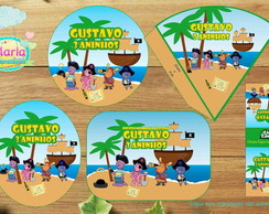 Kit festa digital Backyardigans piratas