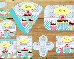 Kit festa Digital Cupcake