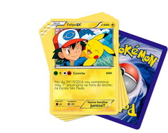 Convite Card Pokemon + Envelope