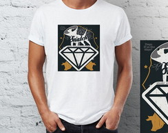 Camiseta Camisa Snatch porcos e diamante