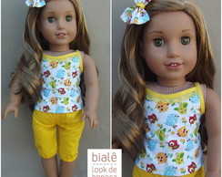 Conjunto Yellow Blue American Girls