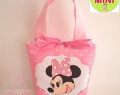 Mini Bolsa Minnie Poá Rosa