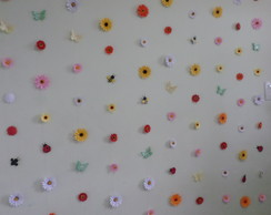 Cortina Decorativa - Flores em Papel
