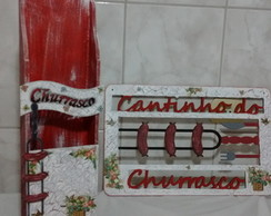 Kit Churrasqueira - Placa e Porta espeto