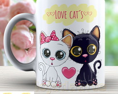 Caneca Love Cat´s - Xicara Gato 1603