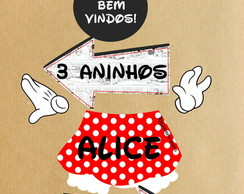 Kit placas entrada Minnie