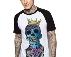 Camiseta Raglan Estampada Skull King