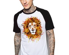 Camiseta Raglan Estampada Lion