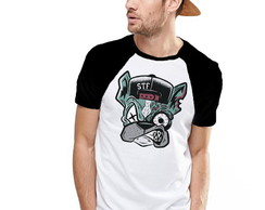 Camiseta Raglan Estampada Dog