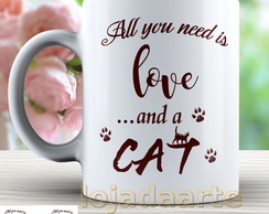 Caneca Love Cat - Xicara Gato 1608