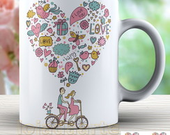 Caneca Love - Amor - Bike - 1617