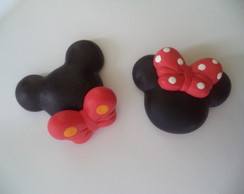 Aplique-Biscuit Mickey e Minnie
