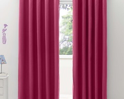 Cortina Blackout /Voil 2x2,20m Rosa Pink