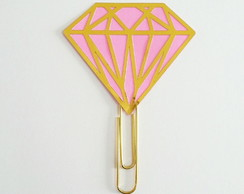 Clips Diamante Pink & Gold