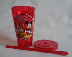 Copo c/ Canudo 550ml Mickey e Minnie 02