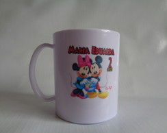 Caneca Polímero de 325ml Mickey e Minnie
