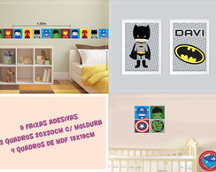 Kit Decorativo Super Heróis Baby