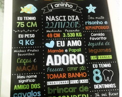 Chalkboard lousa A3 - Fundo do Mar
