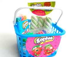 Cesta com Kit Massinha Shopkins