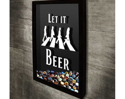 Quadro Tampinhas LET IT BEER - 37x52 cm