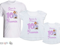 Kit Camisetas 3 Un - Princesa Sofia