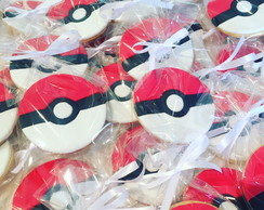 Biscoito decorado Pokebola