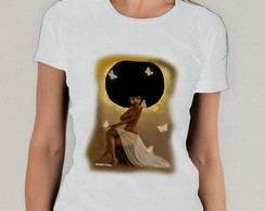 Camiseta Branca Afro Big Power Hair